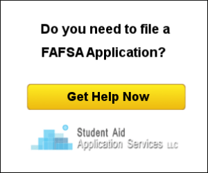 Student Aid Application Services Advertisement