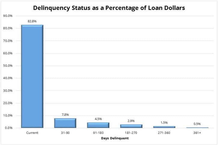Delinquency Status as a Percentage of Loan Dollars