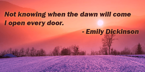 Emily Dickinson inspirational quote