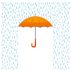 April 2014 Financial Aid News Umbrella Rain