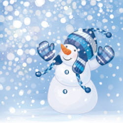 December 2013 Financial Aid News Snowman