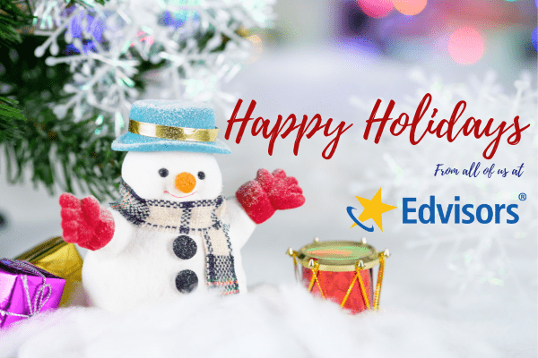 Happy holidays from all of us at Edvisors!